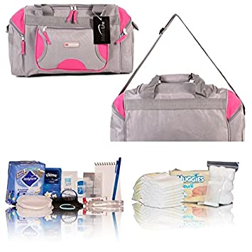 Gris y rosa Bags of Essentials - Bolsa de maternidad ...