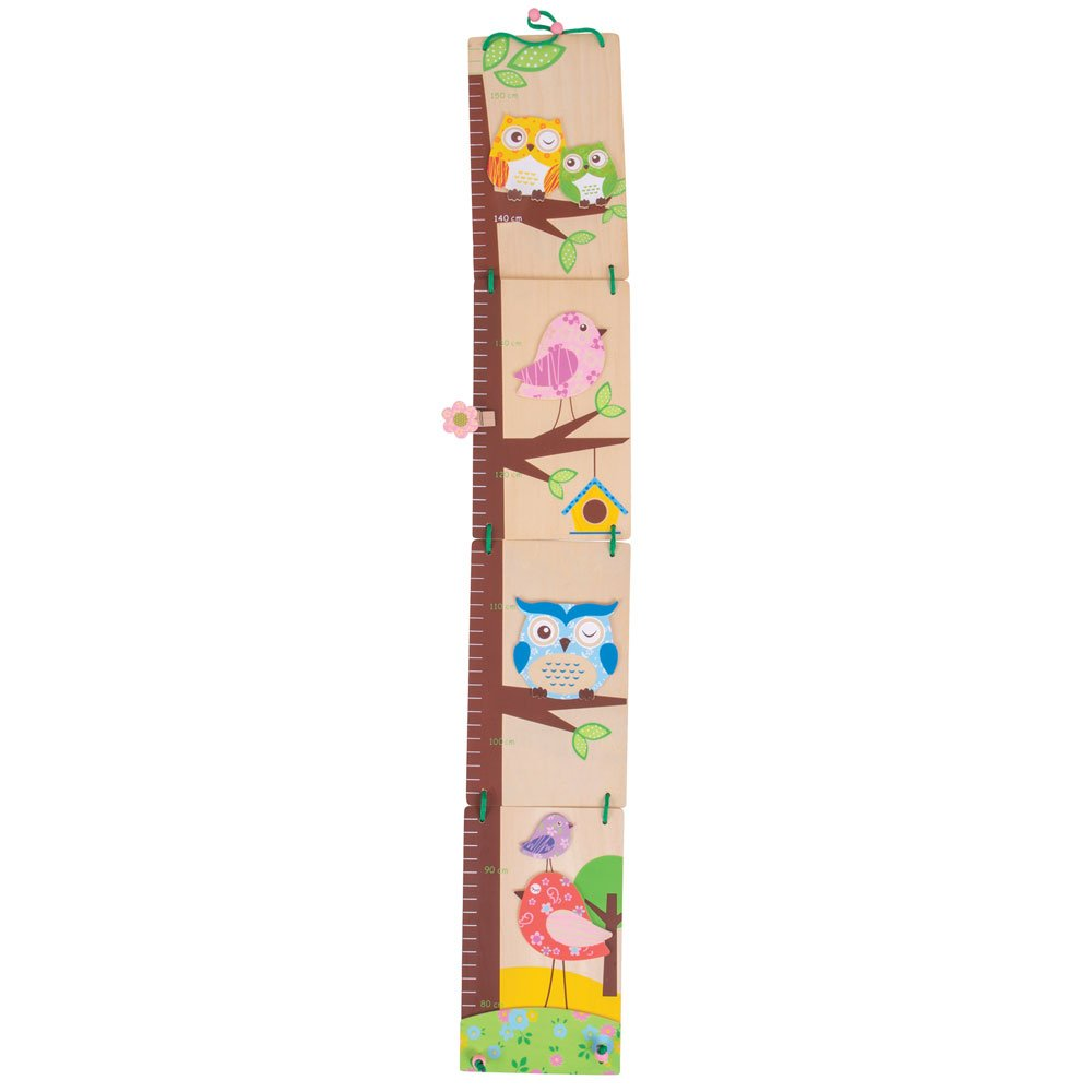 Bigjigs Toys Owl Height Chart - Wooden Growth Chart 691621002155