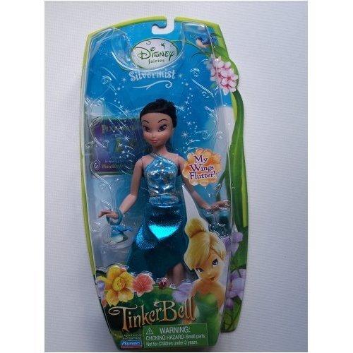 Disney Fairies Pixie Hollow SILVERMIST (Blue Dress) with Flutter Wings & Pixie Pass by Disney   B001JA2ZPI