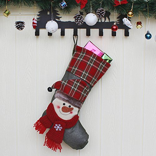 New Christmas Socks Gift Bag Christmas Tree Pendant Christmas Gifts Hotel Shopping Center Window Decoration Snowman paragraph