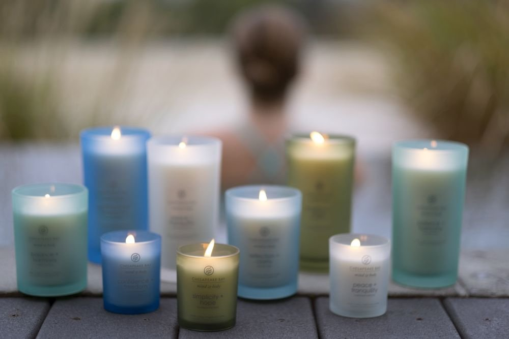 Chesapeake Bay Candle Mind & Body Large Scented Candle, Courage + Wisdom (Teakwood Incense)