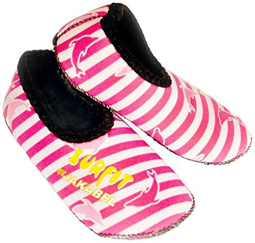 Surfit - Zapatillas de neopreno para niña (piscina y playa) rosa - Rosa y blanco