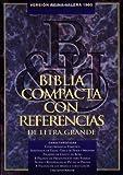 RVR 1960 Biblia Compacta Letra Grande con Referencias, Negro Piel Fabricada, , 1558192891