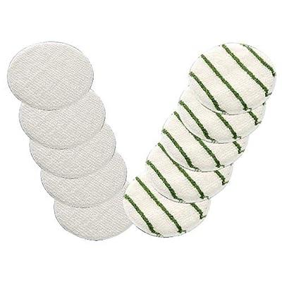 """Boss Cleaning Equipment 17"""" Slim Line Carpet Bonnet, White - Lot of 6"""