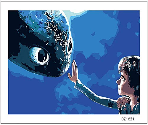 - Adult Hand Painted Kits Paint Oil Paint DIY Painting By Numbers-How to train your dragon 16