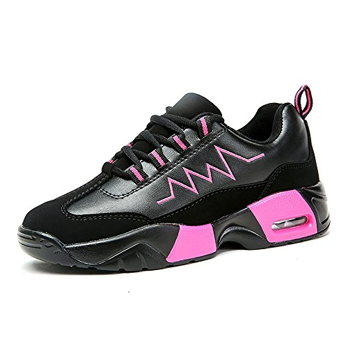 with credit card cheap price factory outlet sale online Women and Men's Outdoor Flat Heel Sneaker Lace up Athletic Casual Shoes Cricket Shoes Black Pink sale sneakernews footaction cheap price 0Db0R1m