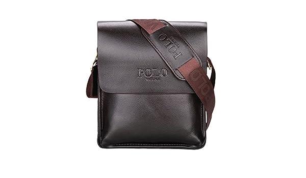 VICUNA POLO - Bolso al hombro para hombre marrón marrón 8.26*9.44 ...