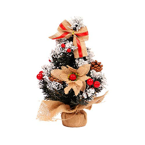 mysky 35cm mini christmas tree flower table decor festival party ornament xmas gift