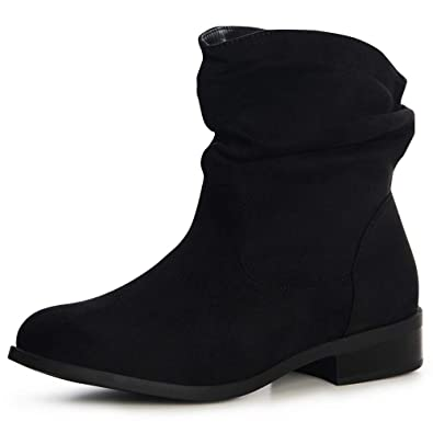 Stiefeletten Topschuhe24 Boots Velours 1493 Damen Kurz b6gfyY7v