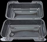 """DART Clear Hinged Lid Plastic Container 9""""x 5"""