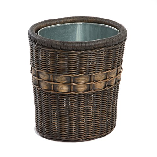 - The Basket Lady Oval Wicker Waste Basket One Size (size 0) Antique Walnut Brown