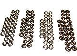 Snaps, Stainless Steel, 25 of Each Piece Cap / Socket / Stud / Eyelet Complete Set