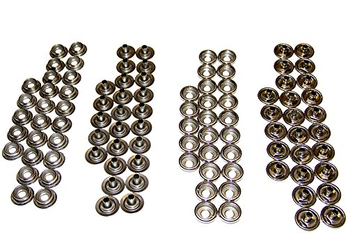 Snaps, Stainless Steel, 25 of Each Piece Cap / Socket / Stud / Eyelet Complete Set
