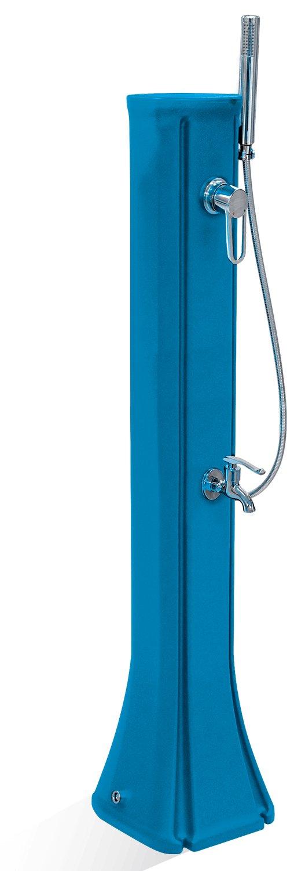 工事不要 お手軽立水栓 フレンチモダン シャワー付きスタンド 水栓柱 23L (ブルー) 立水栓 ガーデン水栓 水タンク B077QRGCR5 ブルー