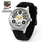 Fashion GT Racing Sport Watches Mens Silicone Watches Quartz Analog Wristwatch White