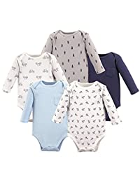 Hudson Baby Baby Infant Long Sleeve Bodysuit 5 Pack