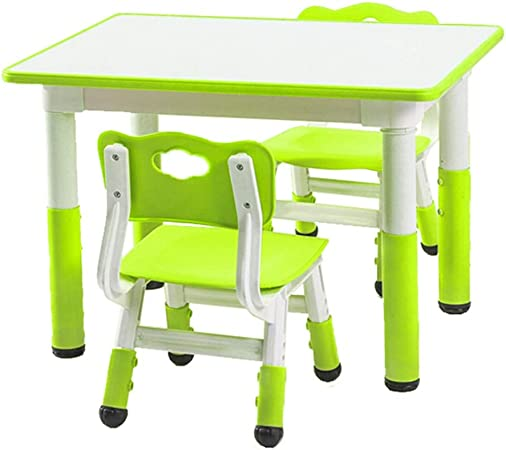 SHLFJQ Tabla niños Juego de sillas Kinder plástico del bebé Dibujo Escribir Escritorio de la Tabla