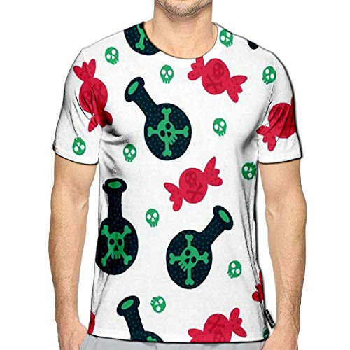 Halloween Elixir Labels (3D Printed T-Shirts Halloween Candle and Elixir Design Short Sleeve Tops)