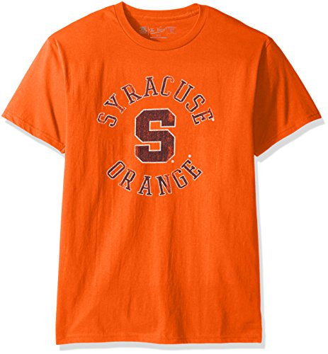 Original Retro Brand NCAA Syracuse Orange Men's Victory Vintage Tee, Small, Orange