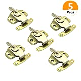 Set of 5 Sakolla Table Locks Dining Table Buckles Connectors Metal Brass Plated Table Locks Hardware Accessories