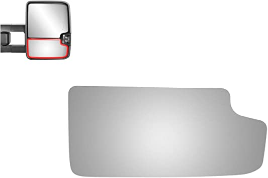 Right Pass Side Lower Mirror Glass For 03-14 Chevy GMC Trucks Tow Type  w//Holder