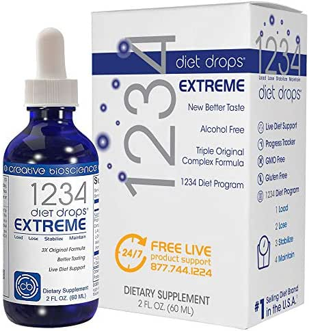 1234 Diet Drops Extreme Appetite Suppressant & Weight Loss Support #1 Best Selling Diet Drops Brand Worldwide