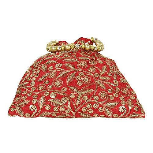 Beautiful Polti per chiaro ricamo borsa etnico Collection rosso Colured donna Borsa qBOPYP