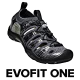 KEEN EVOFIT One, Women's Water Sandal for Outdoor Adventures, 8 M US, Heathered Black/Magnet