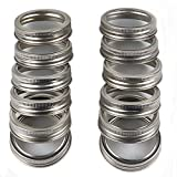 Regular Mouth Mason jar Rings Bands Sainless Steel 12 Pack (Jar Not Include)