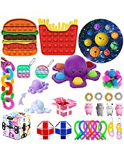 Pudcoco Fidget Toy Set, Sensory Big Size New Toys Pack, Press Type Early Learning Stress Relief Toys for Kids Adults