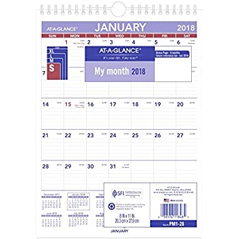at a glance wall calendar 2017 monthly 12 x 17 ruled wirebound pm2 28. Black Bedroom Furniture Sets. Home Design Ideas