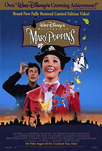 Mary Poppins Movie POSTER 27 x 40, Julie Andrews, Dick Van Dyke ,A, MADE IN THE U.S.A.