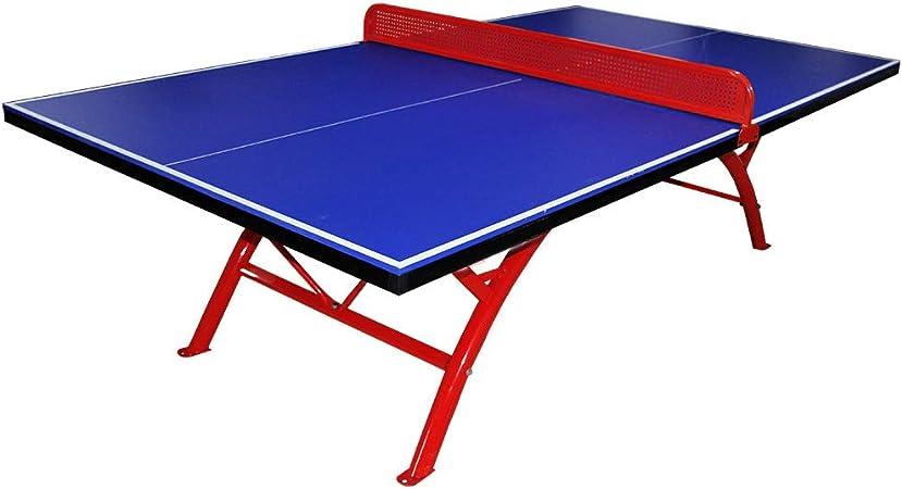 WXH Mesa de Ping Pong Mesa portátil compacta Mesa de Ping-Pong pequeño Espacio Plegable Mesa de Ping Pong con Funda Neta fácil de ensamblar para Outdoor Park School: Amazon.es: Hogar