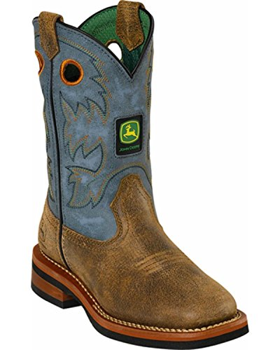John Deere Children Pull-On Boot (Toddler/Little Kid),Brown/Blue,13 M US Little Kid by John Deere