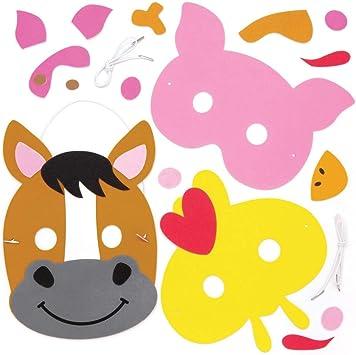 Baker Ross- Kits de caretas de animales de la granja para colorear ...