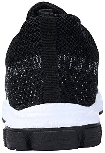 Zapatos Zapatillas Koudyen Negro Gimnasio Sneakers De Mujer Para Running Deporte Unisex Casual Hombre BYqqTwdS