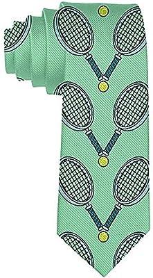 Hombres S Tennis Ball y raqueta Poliéster Seda Casual Gentleman ...