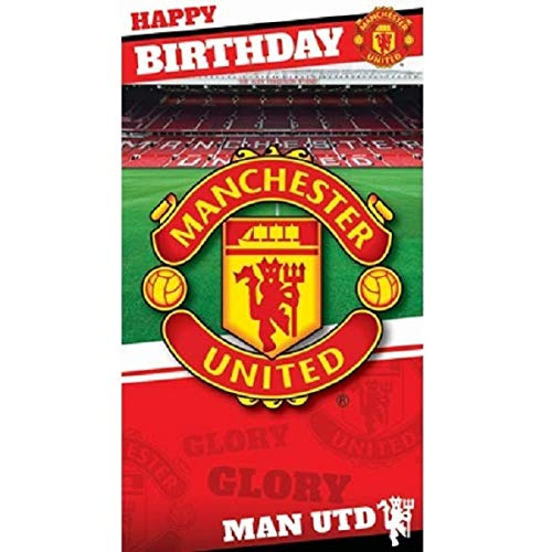 Manchester United Birthday Card, used for sale  Delivered anywhere in Canada