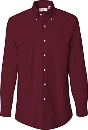 2faf3e94b Van Heusen - Long Sleeve Oxford Shirt - 13V0040 - Cayenne - Small at Amazon Men's  Clothing store: Button Down Shirts