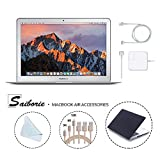 Apple 13.3' MacBook Air (2017) Laptop, Intel Core i5 (Up To 2.9GHz), 8GB RAM, 256GB SSD, w/Saiborie 39 Value Black Cover, 3-Pack Lightning Cables(3,6,10 Feet), Screen Cleaning Cloth