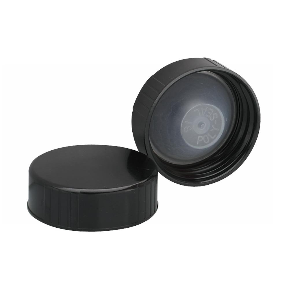 Wheaton 239260 Black Phenolic Screw Cap with PE Poly-Seal Liner, 33-400 Size (Pack of 144)