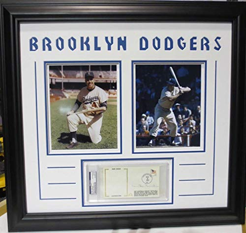 Duke Snider Autographed Signed PSA/DNA Dna Slabbed Auto First Day Cover Custom Framed With Two 8x10