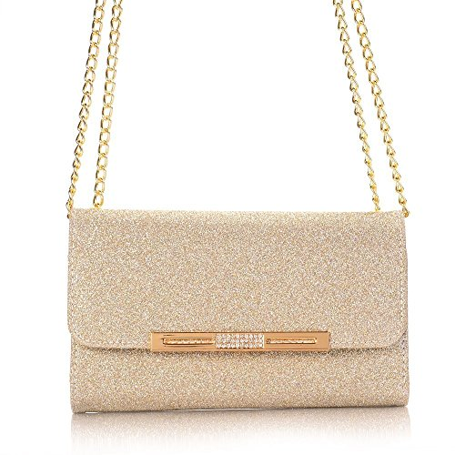 7 7 Cover Stylish Clutch Multi Handbag iPhone Flip Color Gold elecfan with Package Case Stand Leather iPhone Design Girls Women Handbag PU Cards Case Lady Envelope Orange Wallet Holder vq7wCtF