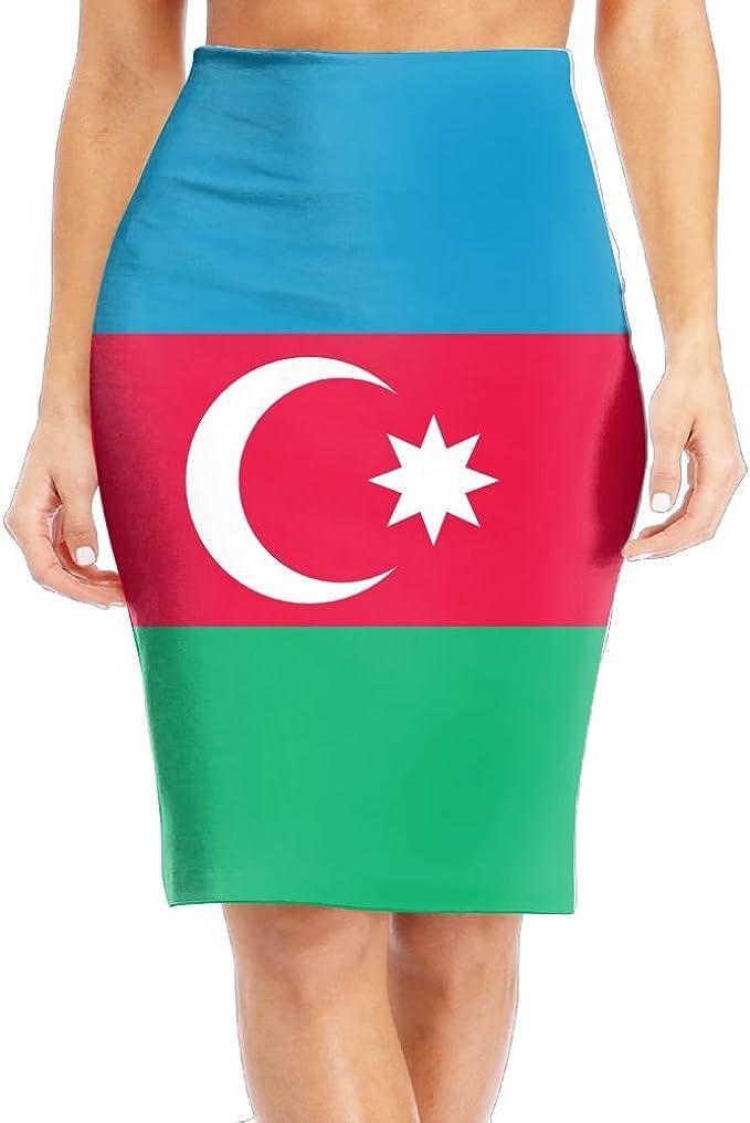 Huitong Shengshi Azerbaijan Flag Women S Fashion Long Slim Pencil Skirt High Knee Length Office Leisure Tight Skirts At Amazon Women S Clothing Store
