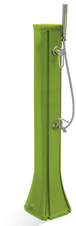工事不要 お手軽立水栓 フレンチモダン シャワー付きスタンド 水栓柱 23L (グリーン) 立水栓 ガーデン水栓 水タンク B077R1KN8R グリーン