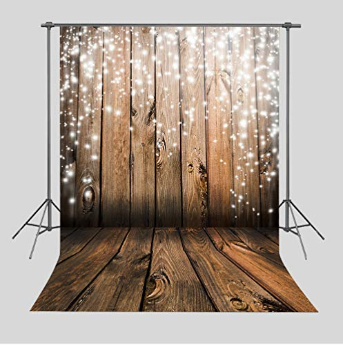 Art Studio 5x7ft Christmas Party Decor Photo Background Snowflake Antique Wooden Floor Wall Bokeh Photography Backdrops Baby Shower Photo Studio Booth Vinyl