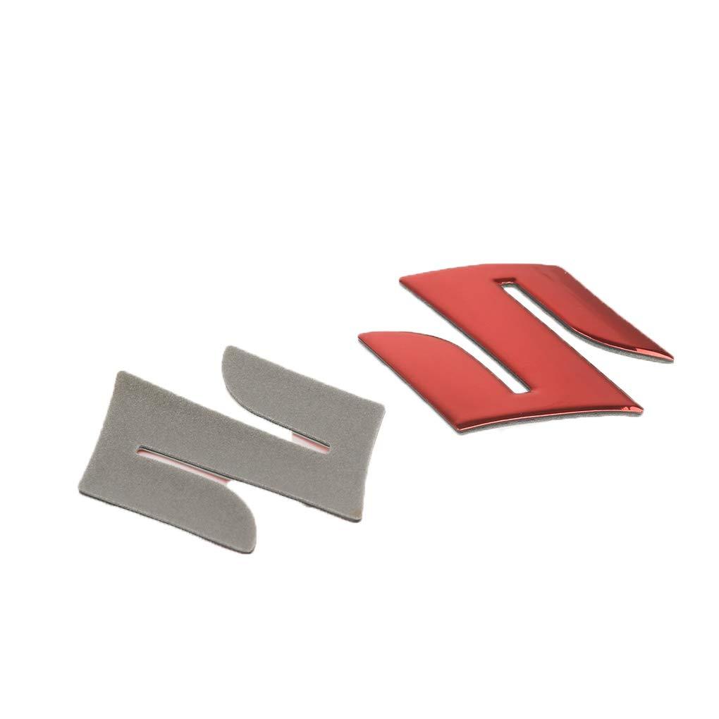 Meisijia 3D Motorcycle Placage Emblem Badge Decal R/éservoir Roue Logo S Autocollant de Protection Couverture Paster compatible avec Suzuki