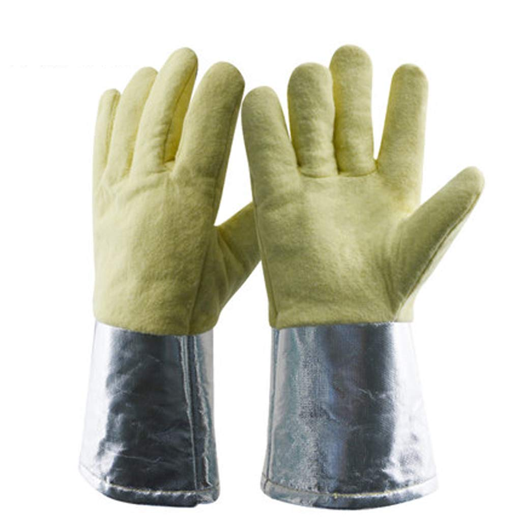 SHWSM High Temperature Resistant Gloves Kitchen Baking Gloves Industrial Boiler Smelting Iron Casting Operations Labor Insurance Products Insulation Flame Retardant Anti-scalding by SHWSM