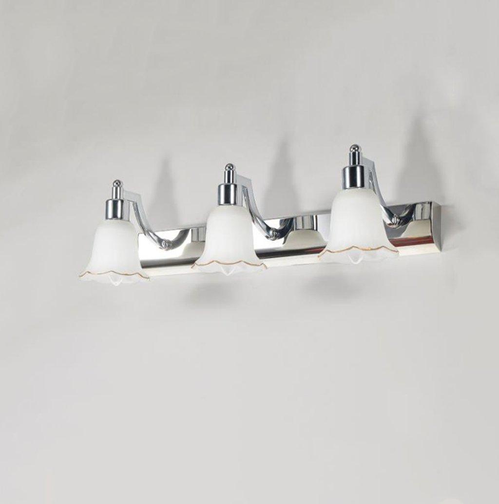 & Spiegellampen Spiegel-Frontlicht, das Birnen-Badezimmer-Spiegel-Licht-moderne LED-Edelstahl-Spiegel-Kabinett-Eitelkeits-Wand-Beleuchtung ersetzt Badezimmerbeleuchtung