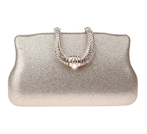 Prom Bridal Party Evening Ankoee Champagne Elegant Clutches Womens Simple Party Handbag Purse Prom qxw1x4UIg